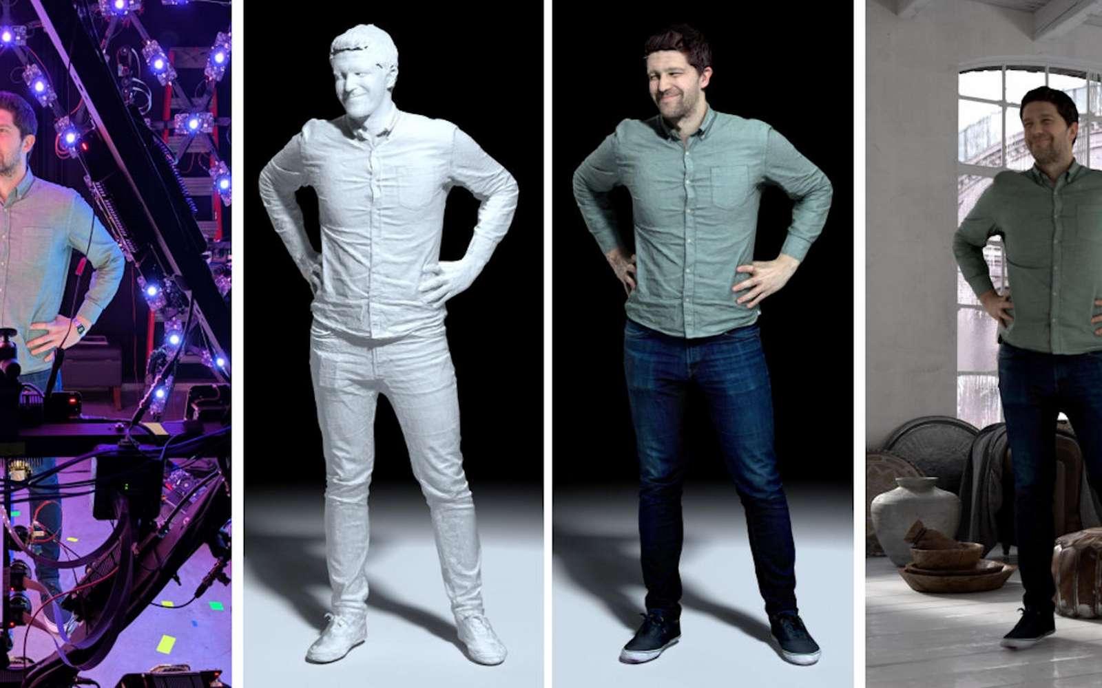 Avec ce système, la représentation en 3D d'une personne devient modifiable dans n'importe quel décor. © Google