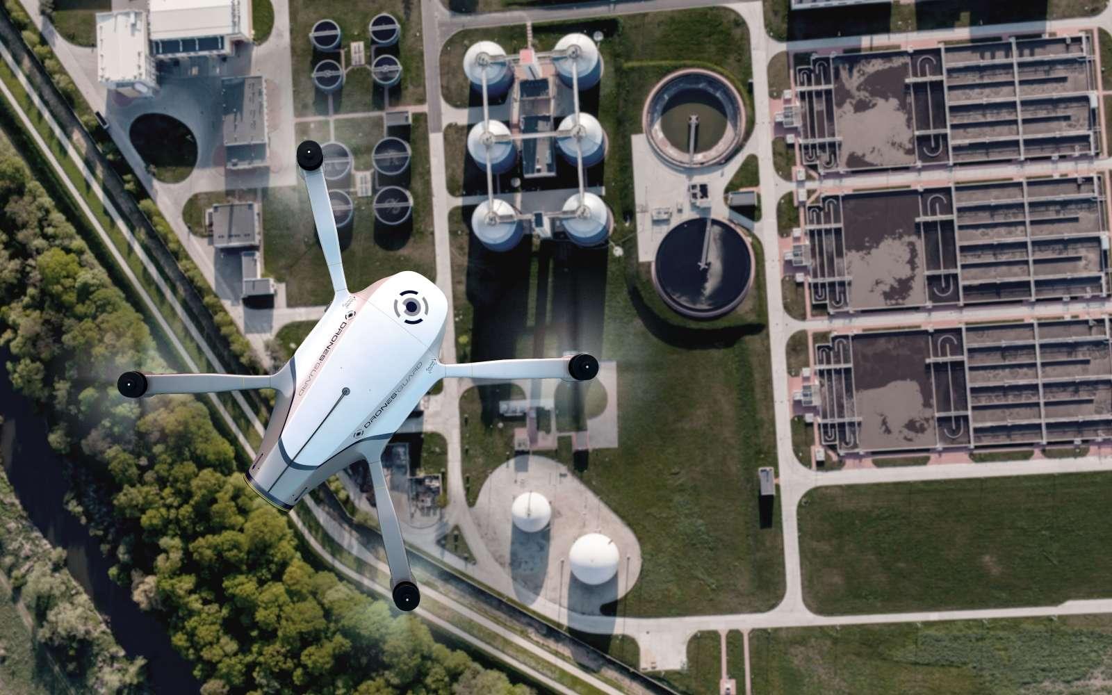 Azur Drones compte proposer son drone autonome homologué à des société privées de sécurité comme Securitas, Garda, Seris... © Azur Drones