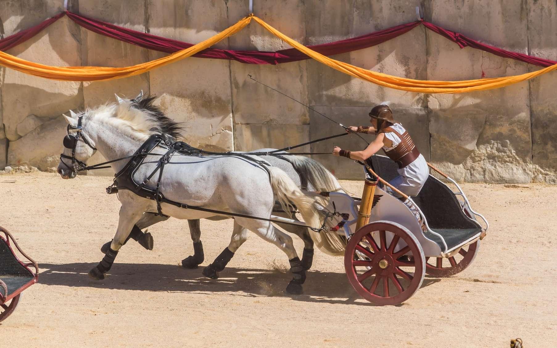 Très en vogue dans l'antiquité, la course de char est une ancienne discipline olympique abandonnée aujourd'hui. © Bernard GIRARDIN, fotolia