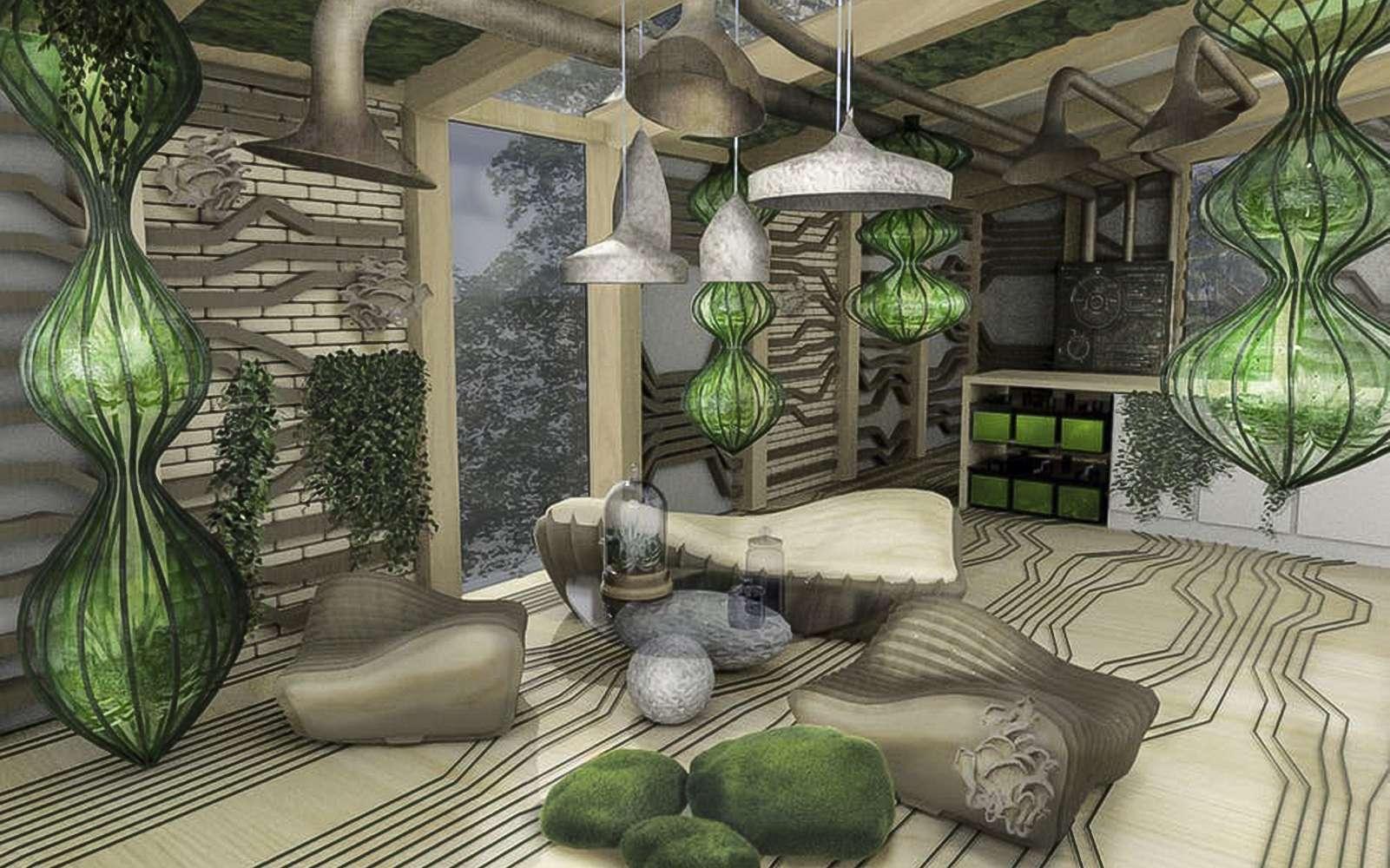 Les chercheurs du premier centre au monde consacré aux applications des biotechnologies dans le bâtiment (HBBE) en sont convaincus : les maisons de demain seront vivantes ! © Assia Stefanova, HBBE