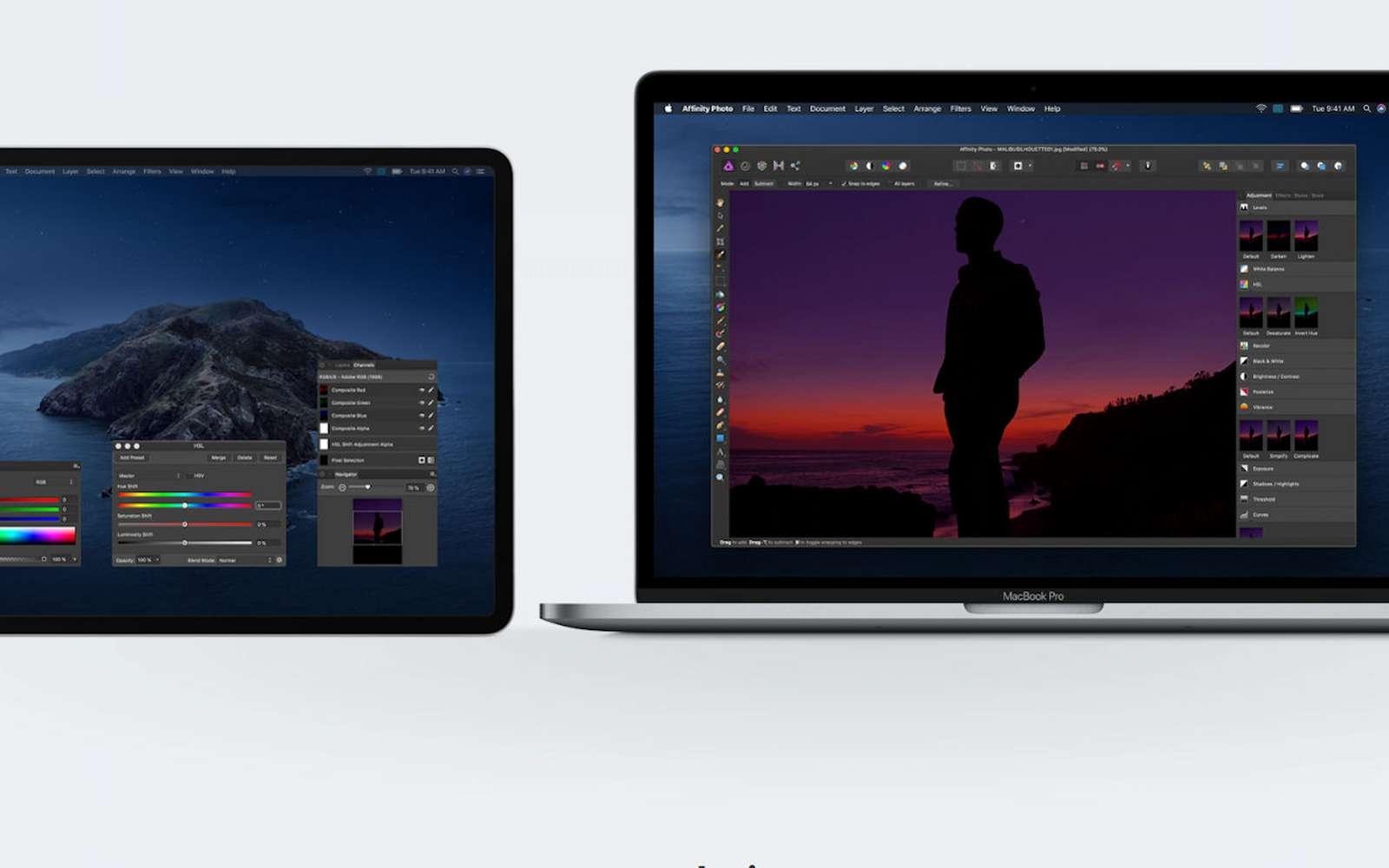 La très bonne idée de Catalina, c'est la possibilité d'utiliser son iPad comme second écran. © Apple