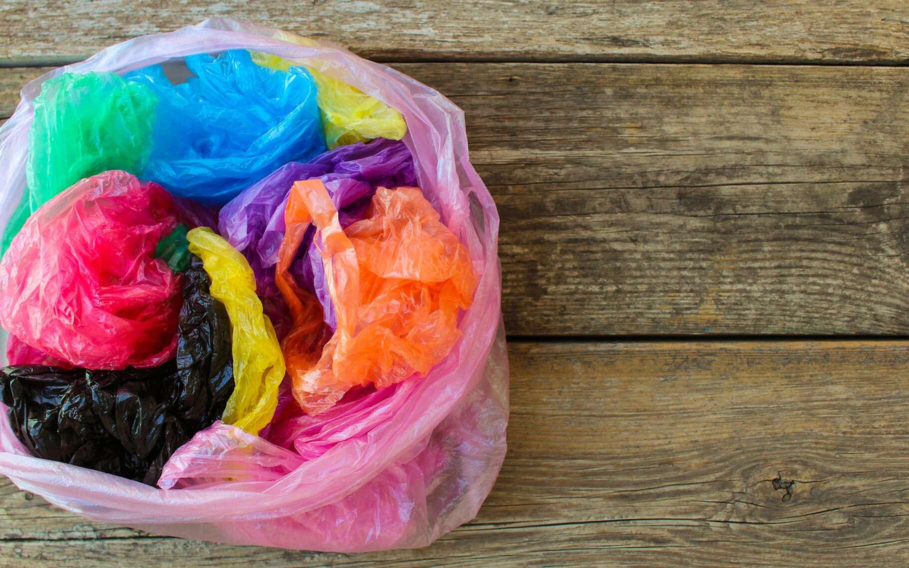Le polyéthylène est un polymère de synthèse simple et bon marché, largement employé pour la fabrication, entres autres, de sacs plastiques. © Victoria M, Fotolia