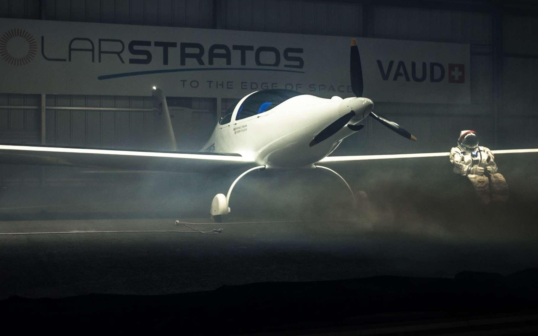 Le Solar Stratos est un avion à propulsion électrique, alimenté par des batteries et des cellules photovoltaïques. Il est conçu pour atteindre la stratosphère, vers 25.000 m d'altitude. © Zeppelin, Solar Stratos