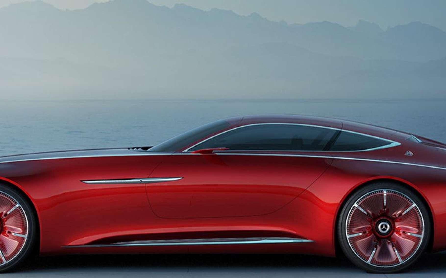 La Maybach 6 de Mercedes a pour but de concurrencer Tesla. © Mercedes-Benz