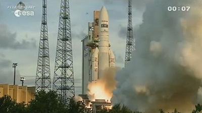 Le décollage d'Ariane V, Jeudi 5 Juillet 2012