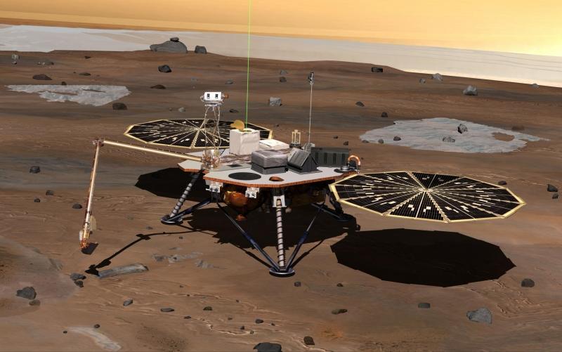 Préparation de la mission martienne InSight Phoenix