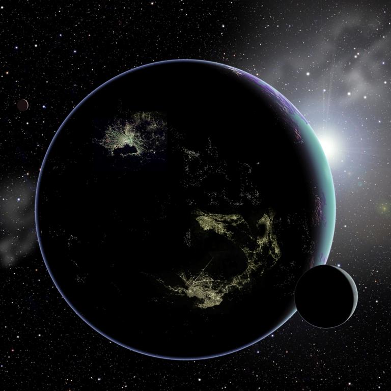 Extraterrestres : leurs lampadaires pourraient trahir leur présence Exoplanete_lumiere_David_A_Aguilar_03