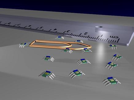 Un essaim de micro-robots