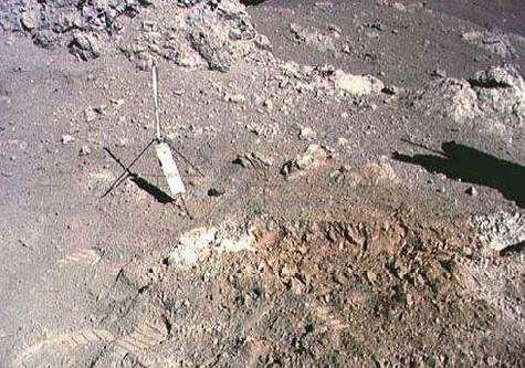 Des fossiles terrestres sur la lune ? A17b