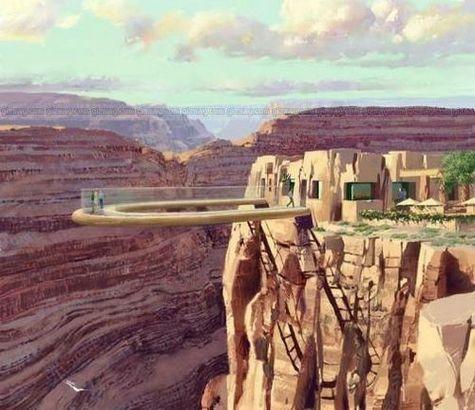 Le Skywalk, une passerelle de verre au-dessus du Gd Canyon Skywalk-210307