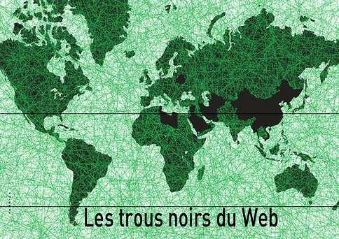 En noir, les 15 ennemis de l'Internet pointés du doigt par RSF (Crédit : Reporters sans frontières)