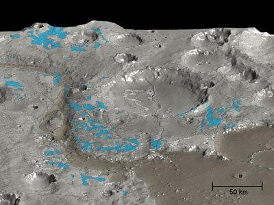 Carte de Mars des minéraux