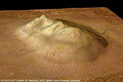 Le « visage de Mars » dans la région de Cydonia