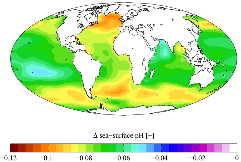 LA MER SE MEURT  dans ACIDIFICATION DES MERS Carte-variation-ph-ocean-actuelle_Plumbago-Wikimedia-CC-by-sa-3