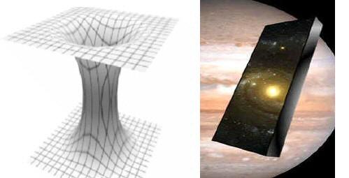 Singularités, trou de ver et voyage spatio-temporel