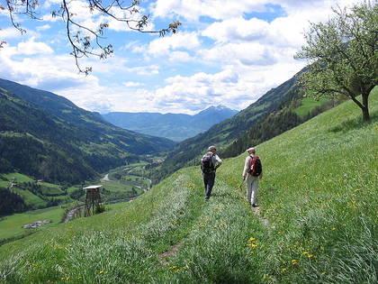 La marche à pied dans la nature, comme ici une randonnée dans le Trentin-Haut-Adige, améliore le rythme cardiaque.