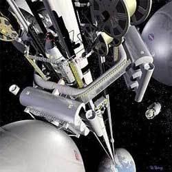 Un rêve d'ascenseur spatial qui s'enfuit... (Crédits : NASA)