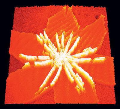 nanoscience, nanotechnologie : Représentation en 3D d'une image BAM