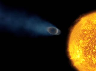 Osiris en train de s'évaporer (Crédit : ESA et Alfred Vidal-Madjar).