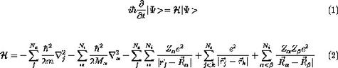 Equation de Schrödinger pour un système de noyaux et leurs électrons (Crédit : Robert Laughlin).